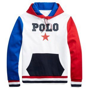 Polo Ralph Lauren Mens Cotton-Blend Graphic Hoodie